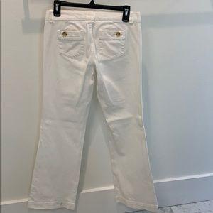 Banana Republic White Tall Jeans